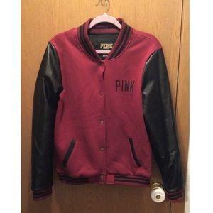PINK Letterman Jacket : Large